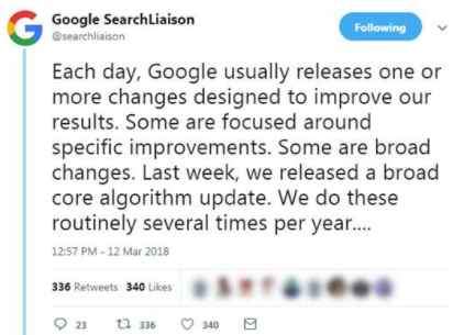 SEO algorithm updates