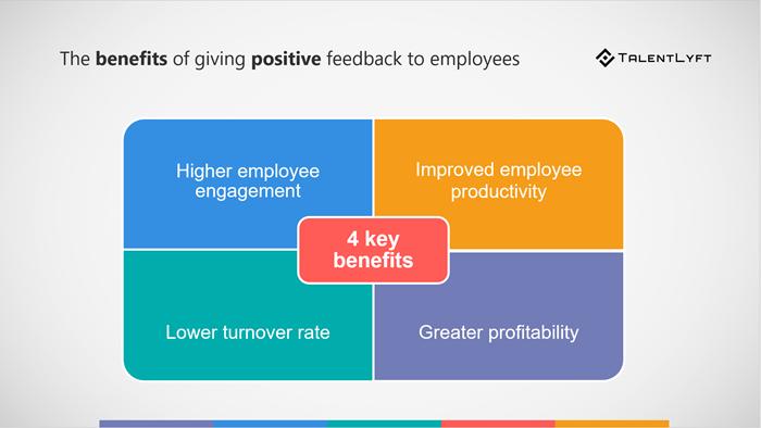 giving employees positive feedback