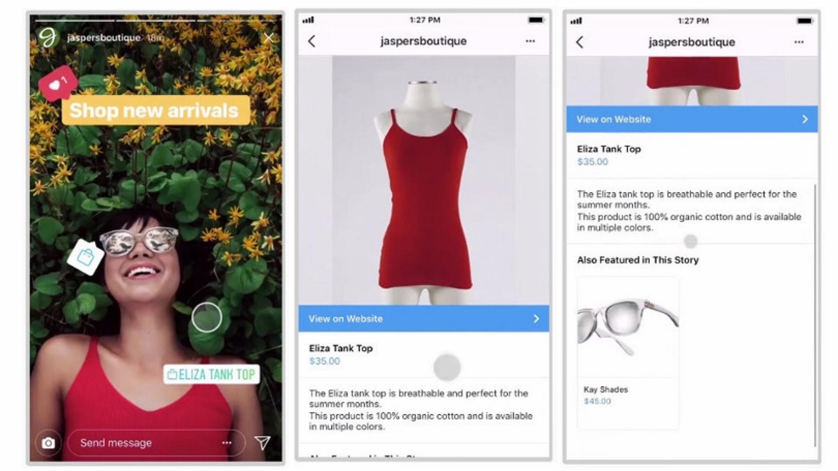 instagram ecommerce selling