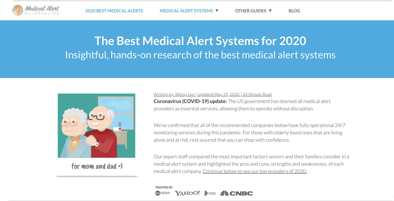 medical alert systems 2020