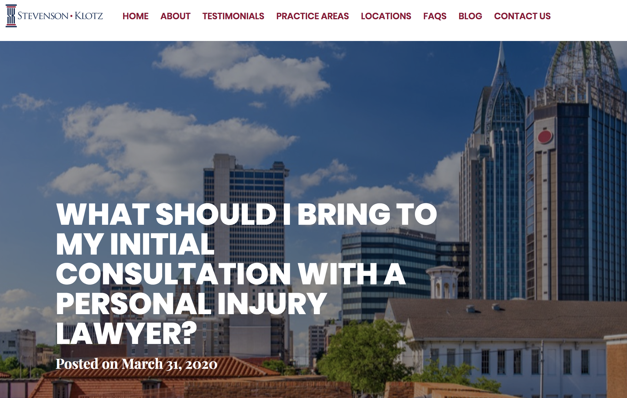 personal injury lawyer consultation