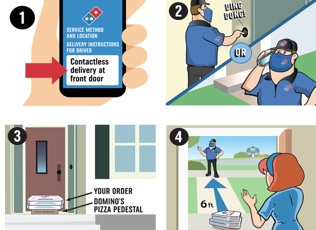 dominos contactless delivery