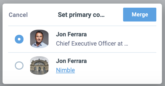 merging duplicate contacts in nimble