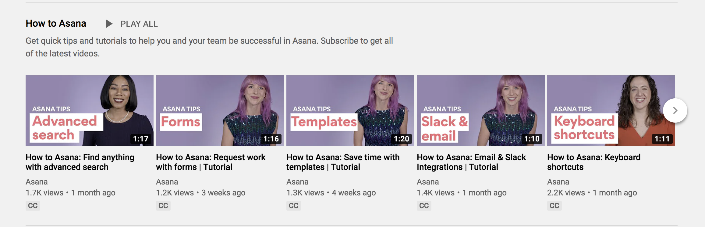 asana video marketing