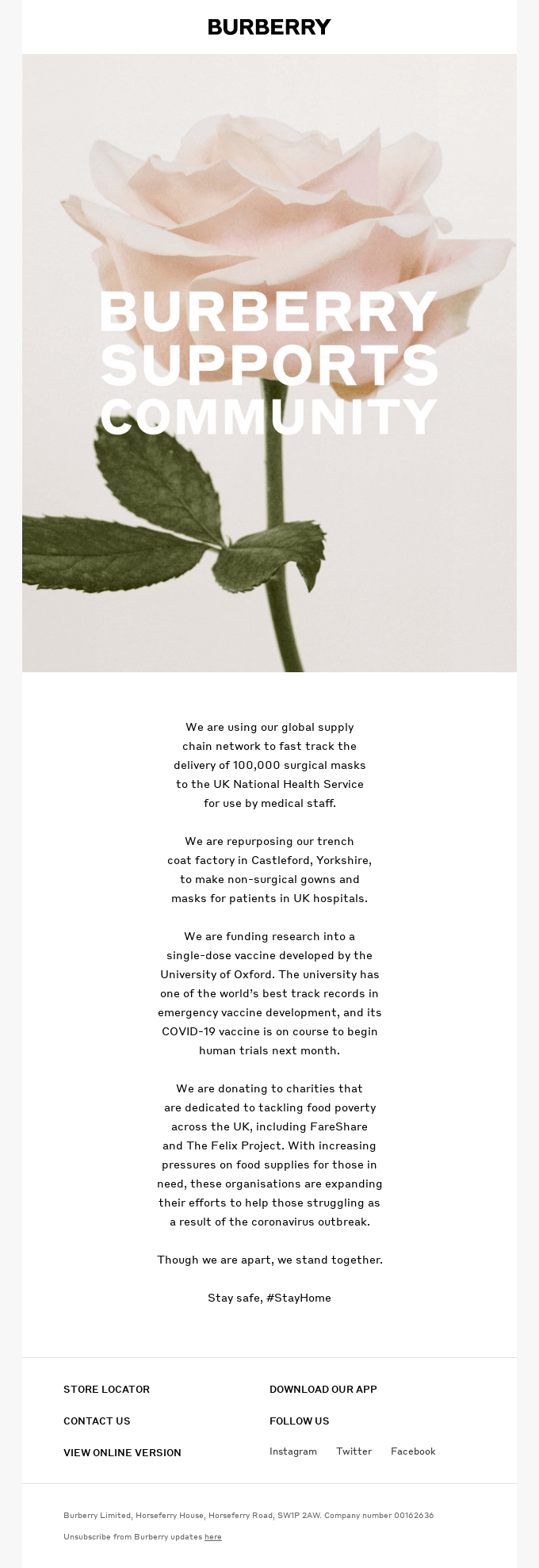 burberry support email