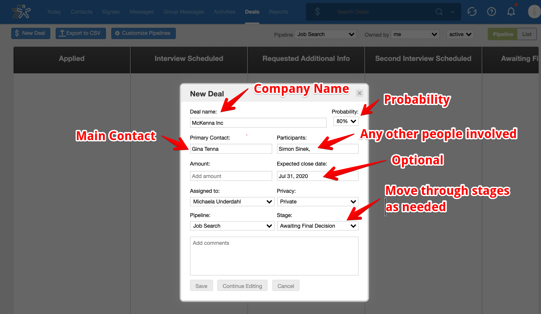 using nimble crm to find a job