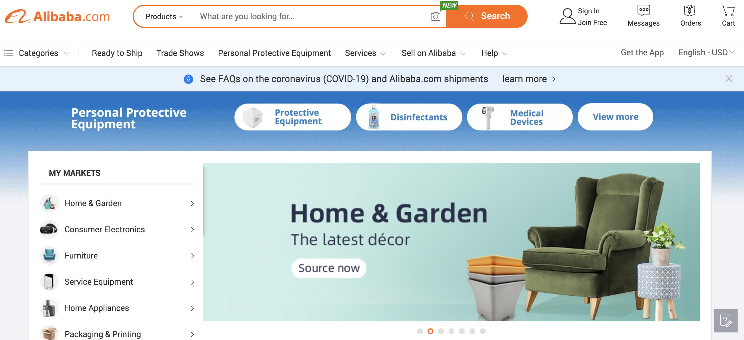 alibaba website