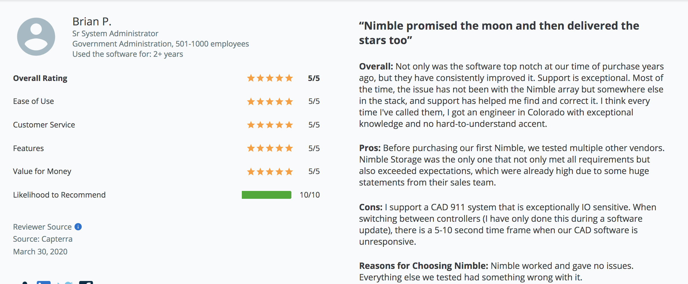 nimble capterra reviews
