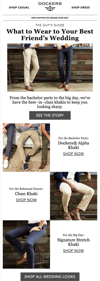 dockers email ad