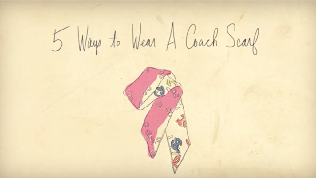 5 ways to wear a coach scarf