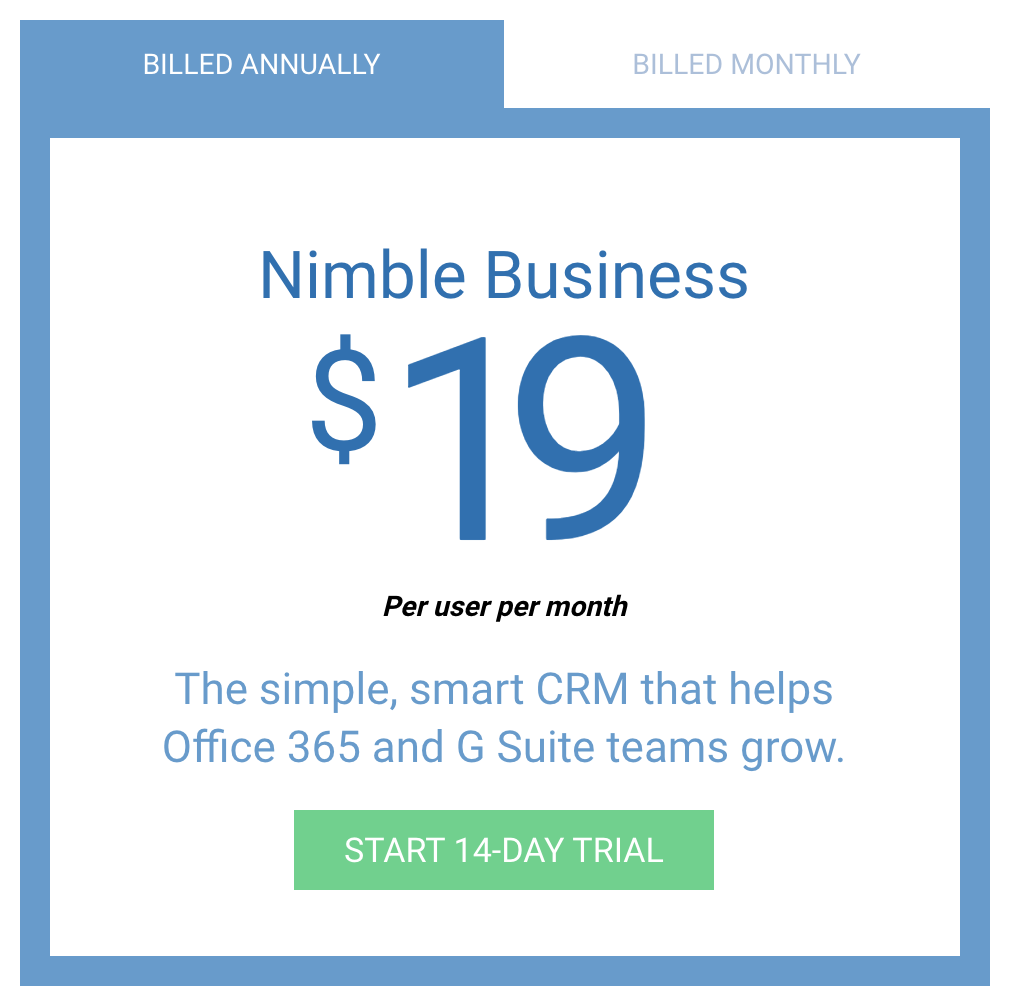 nimble pricing
