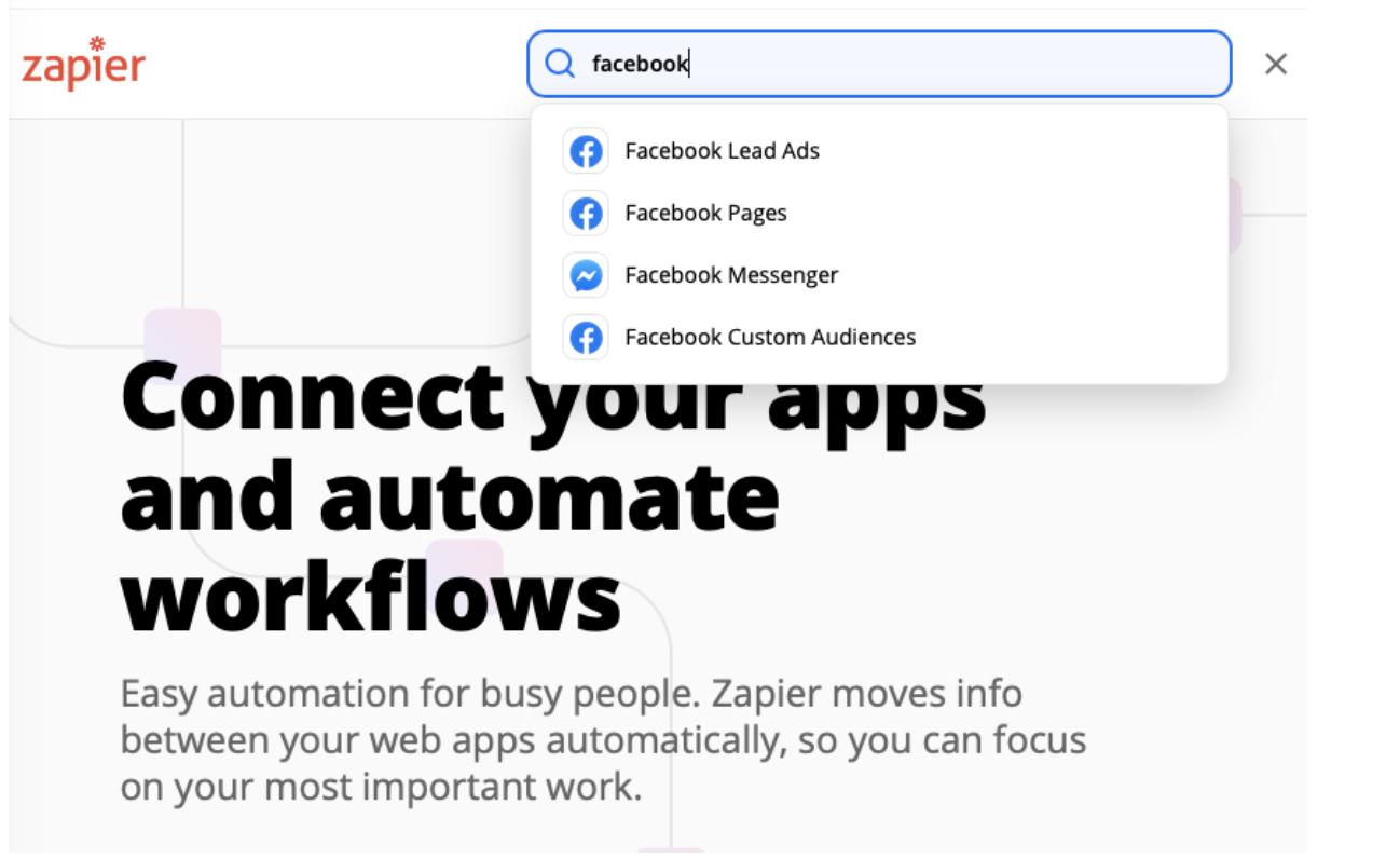 zapier facebook integration