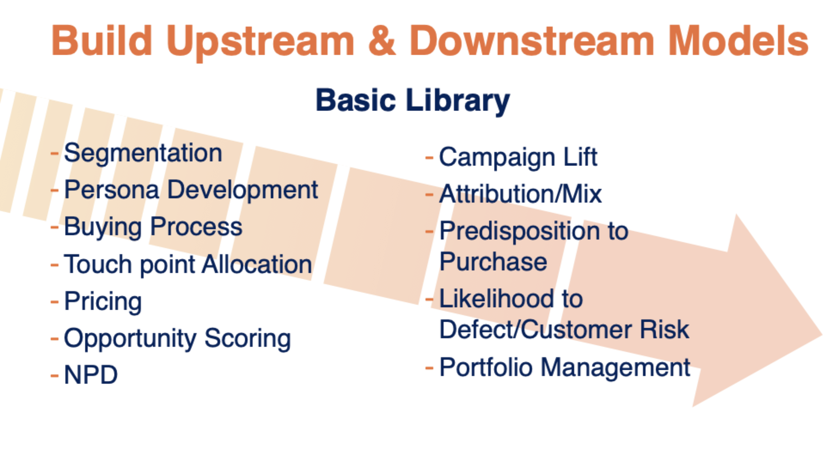 build upstream and downstream models