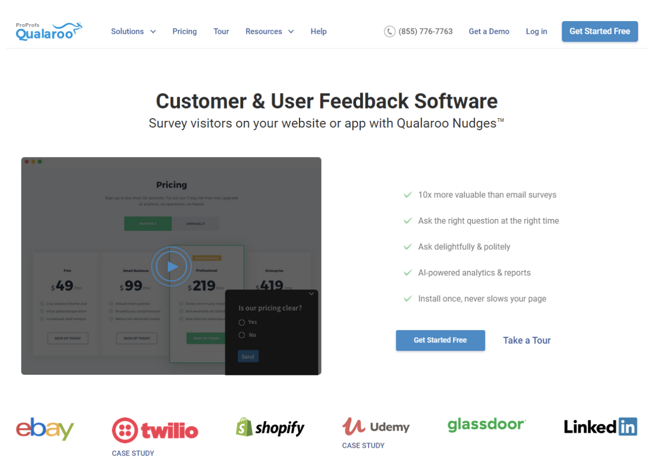 customer and user feedback software