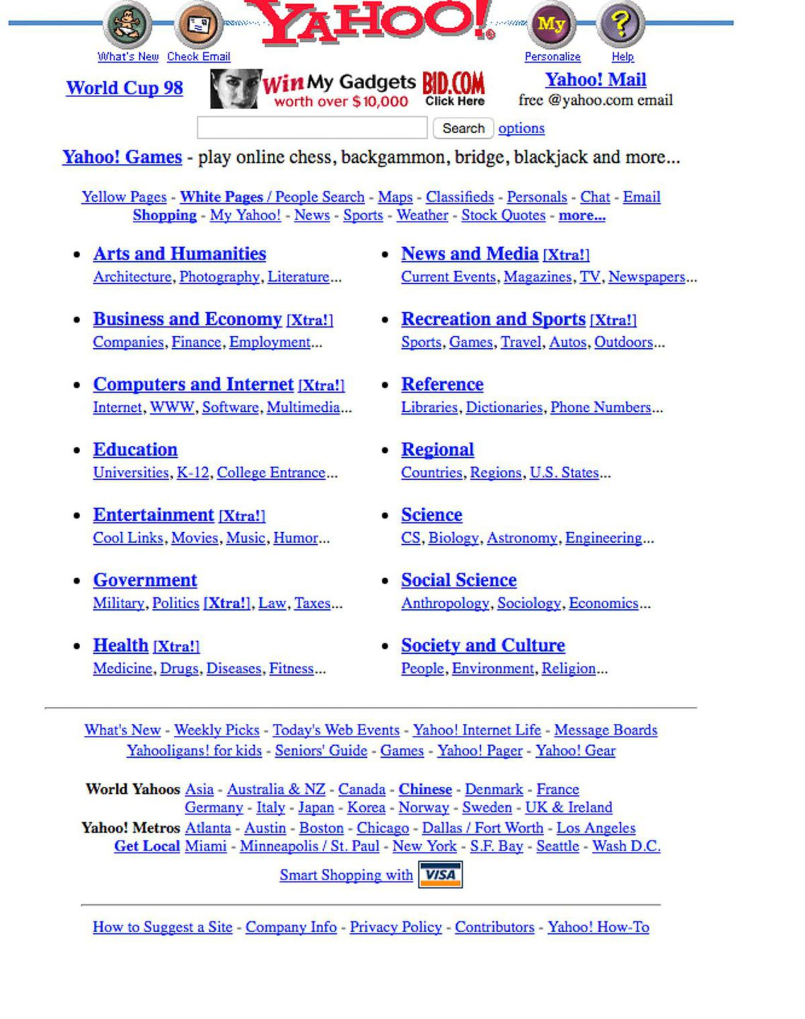 yahoo in the 90s
