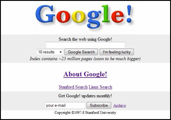 google in the 90s
