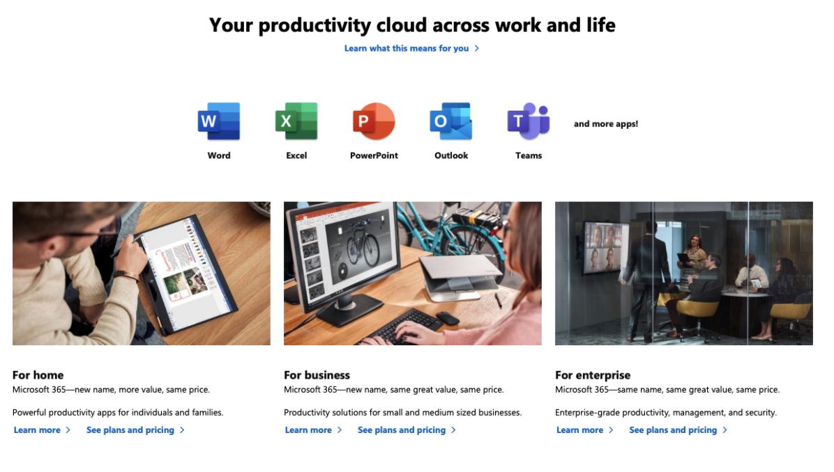 microsoft 365 productivity suite