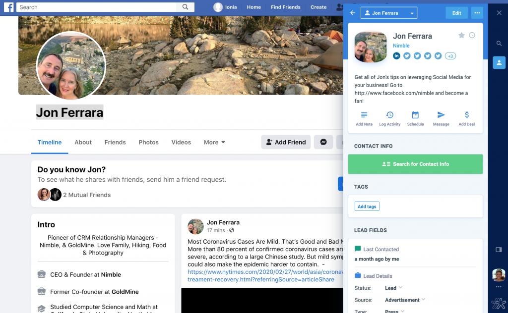 nimble prospector browser extension for safari