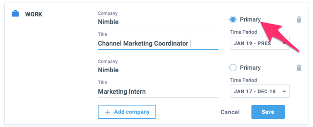 nimble multiple companies