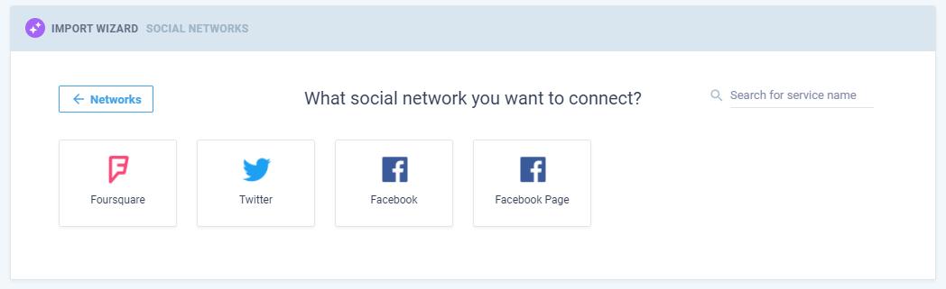 Screenshot of social media connection in Nimble