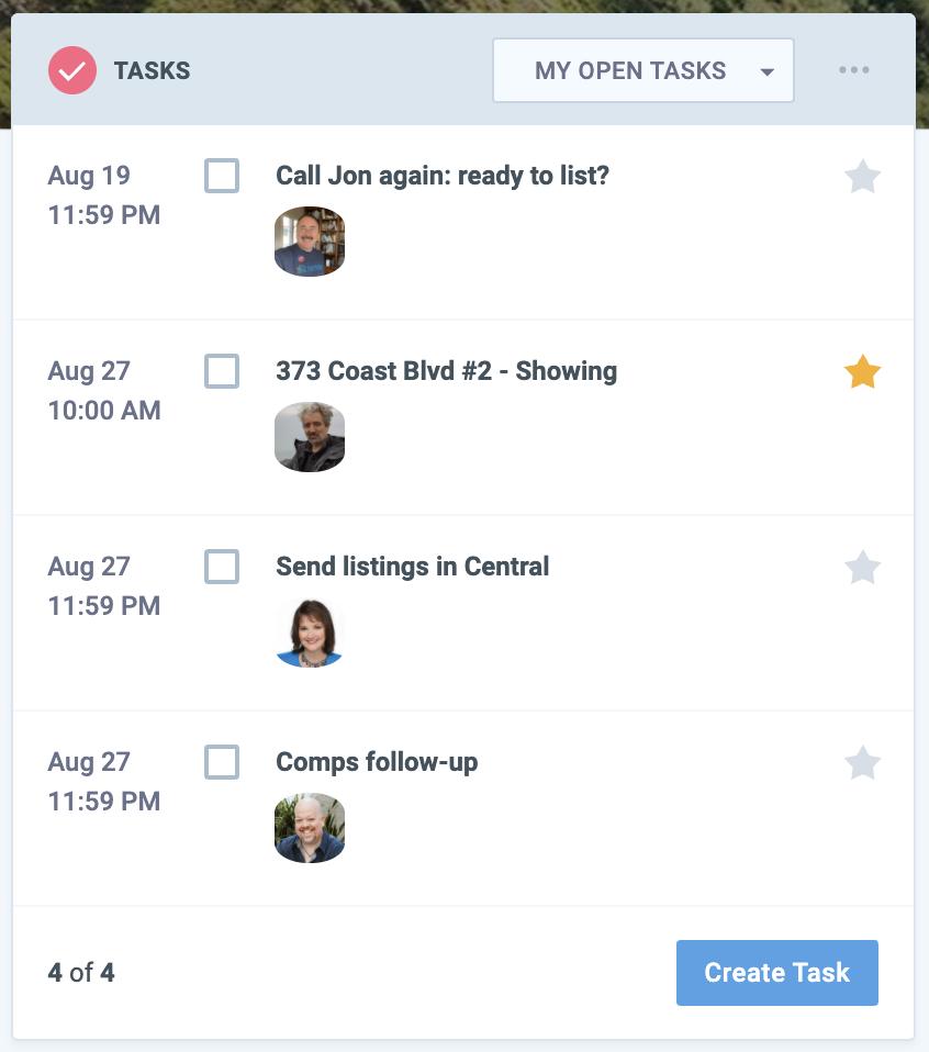 Nimble Today Page task Widget screenshot